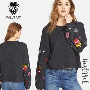 Wildfox fries and kisses sweater